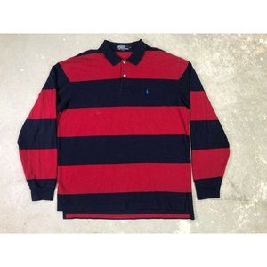 Polo Ralph Lauren! Red and Black XL Button Up Polo